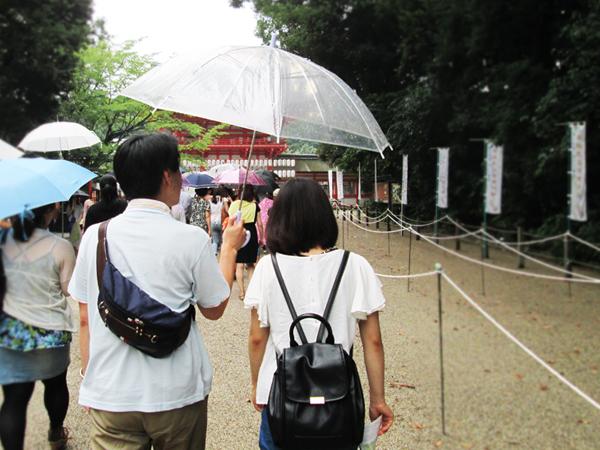 雨の下鴨神社散策