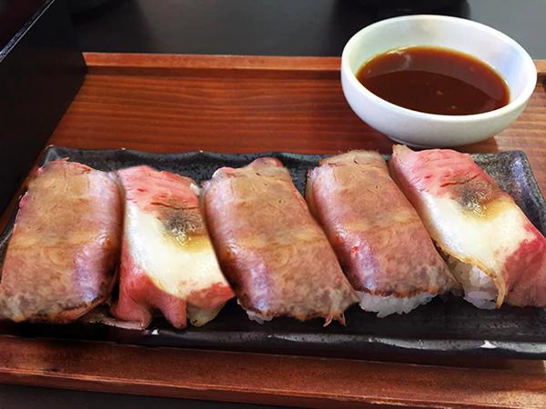 松阪牛の寿司