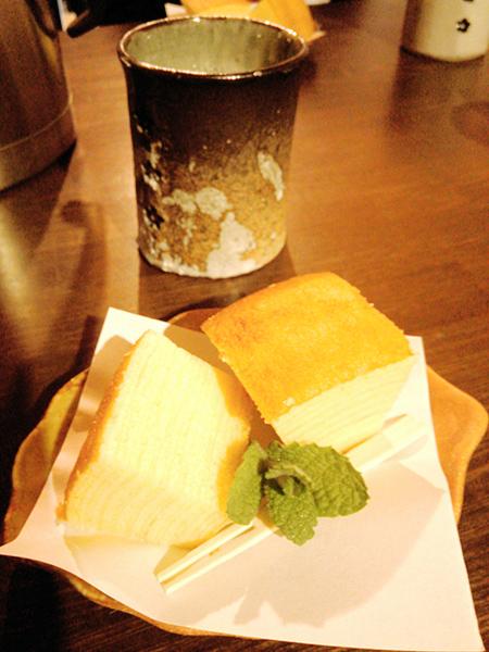 紅茶とバームクーヘン