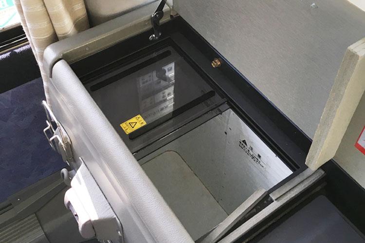 大容量の冷蔵庫付き。