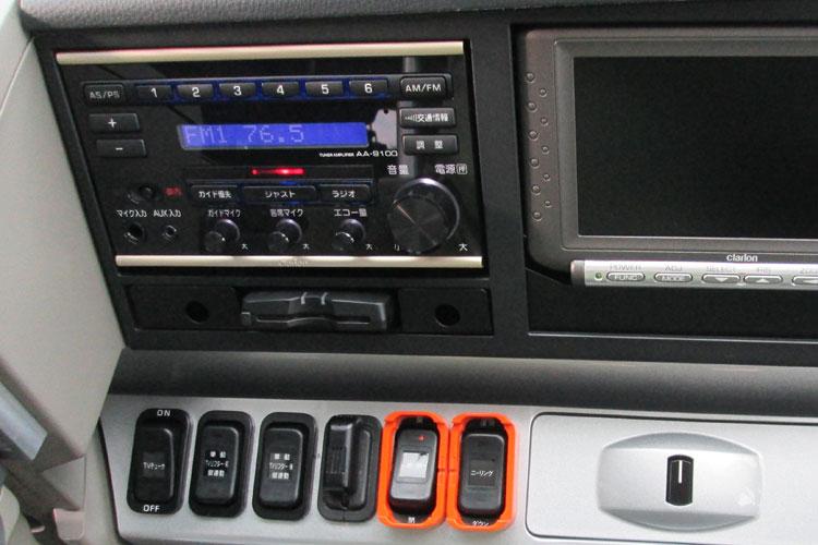 AM/FMラジオやDVD完備