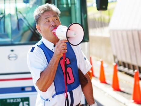 大型バス部門:田中社員(京都/貸切)